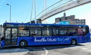 Go-Ahead's single-decker air-filtering bus.