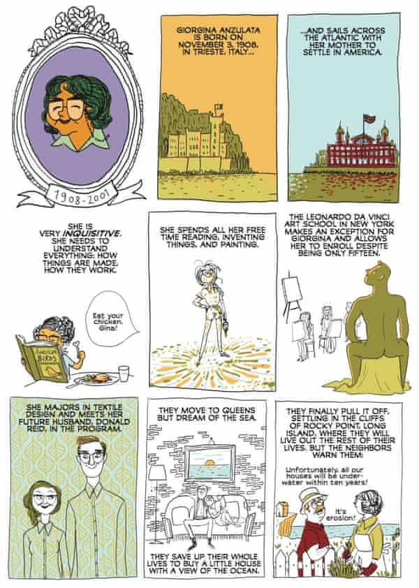 The story of Giorgina Reid, from the graphic novel Brazen
