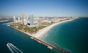Sea levels are expected to rise in south-east Florida, home to Miami Beach, by six to 10 inches by 2030.