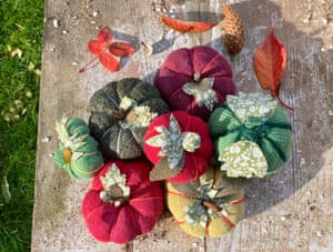 Lucy Purdy's sock pumpkins