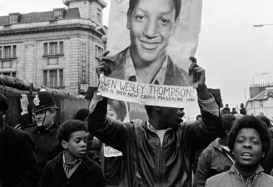 An image from Vron Ware's series The Black People's Day of Action 02.03.1981 published by Cafe Royal Books