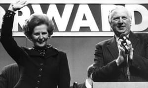 Margaret Thatcher with James Prior, 9 October 1980.