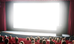 Cinema audience and screen. David Cheskin/PA Wire
