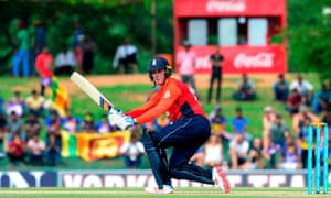 Jason Roy turns the ball to leg during the abandoned one-day international against Sri Lanka in Dambulla on Wednesday.