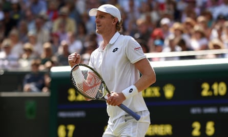 Kevin Anderson during his quarter-final against Roger Federer last year.