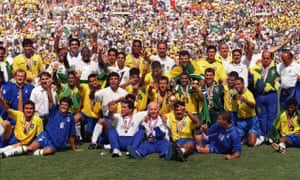 The Brazil team that won the World Cup in 1994, including Rai and Mauro Silva.