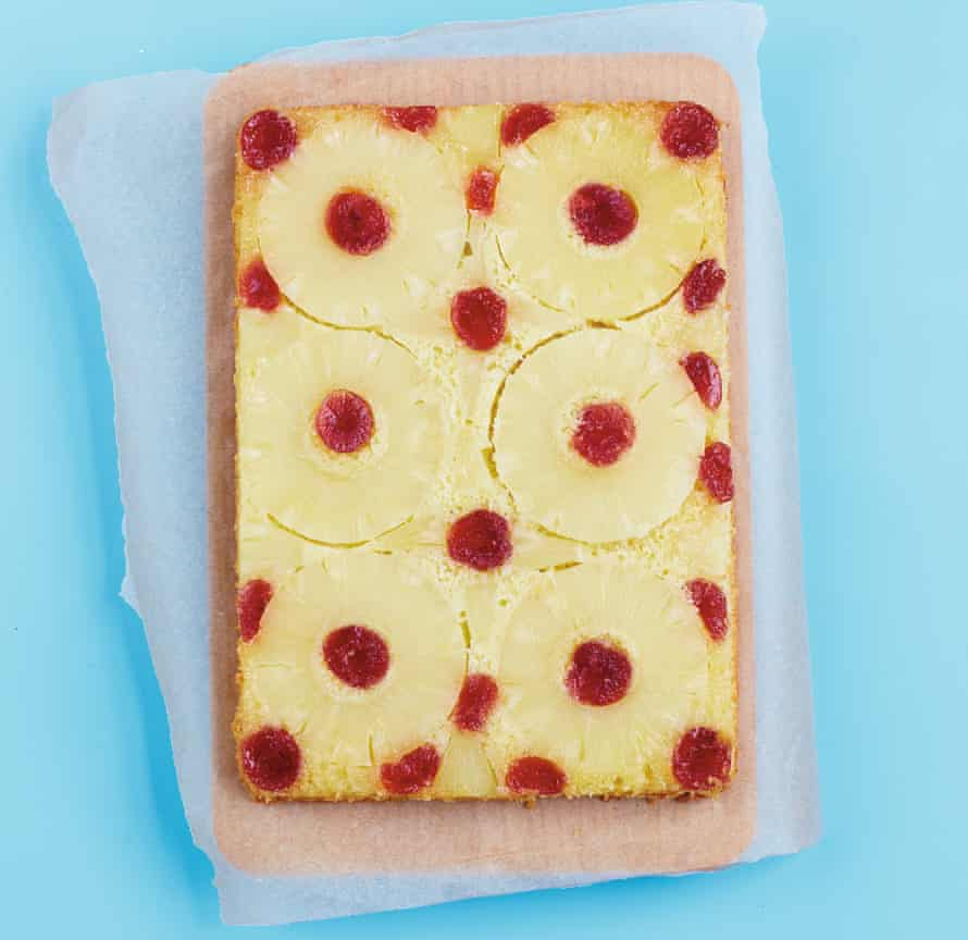 Retro-fantastic pineapple upside-down cake.