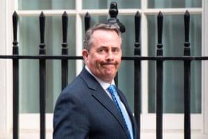 Liam Fox in Downing Street.