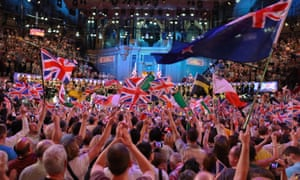 The last night of the Proms at the Royal Albert Hall, London, in 2012.