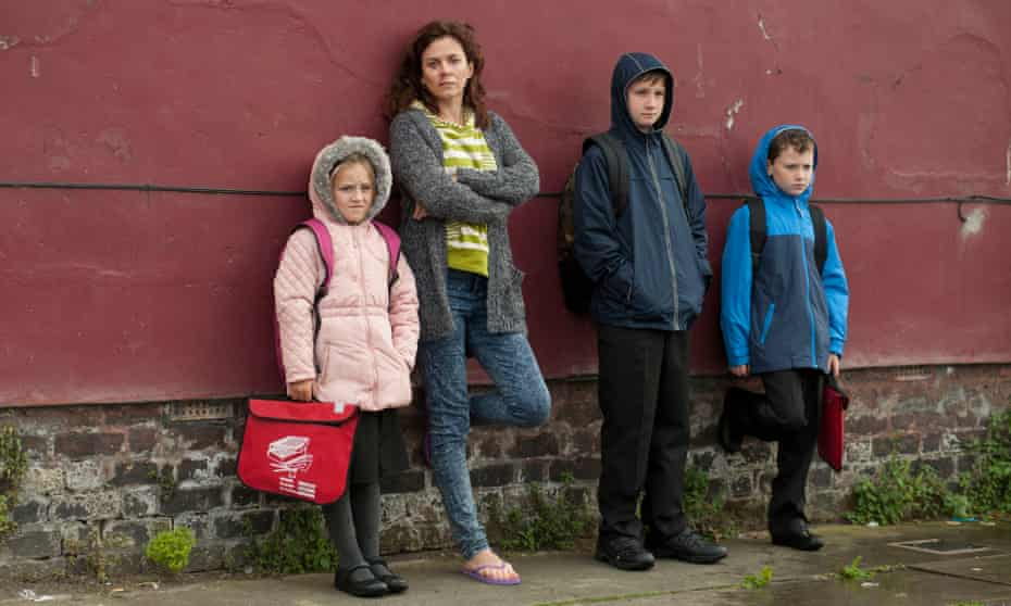 Anna Friel as Broken's Christina Fitzsimmons, with family.