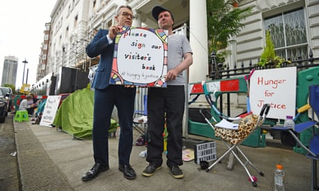 Ratcliffe hunger strike making embassy work impossible, says Iran