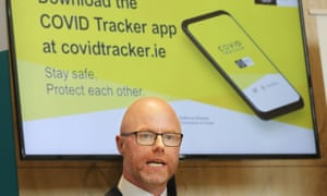 The Irish health minister, Stephen Donnelly, launches a contact tracing app this month.