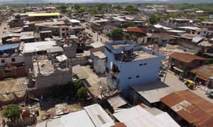 Aerial view of Pedernales two days after the 7.8-magnitude quake hit the country
