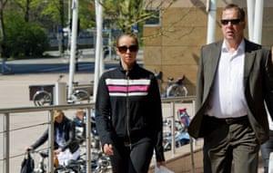 Verona van der Leur arrives at court with her lawyer in 2011.