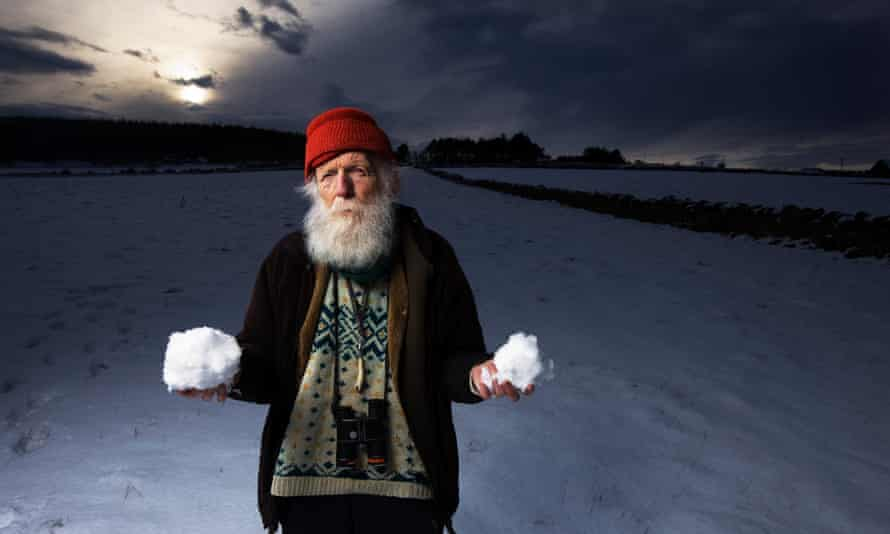 Adam Watson in 2009. From an early age he had a fascination for snow. 'I could see these pale veils coming out of the sky, and as it got near the ground I saw they were actually snowflakes,' he said.