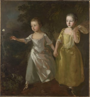 The Painter's daughters chasing a butterfly, by Thomas Gainsborough, c.1756.