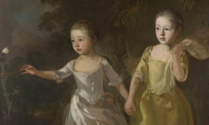 Fleeting moments … A detail from The Painter's Daughters Chasing a Butterfly (c1765) by Gainsborough.