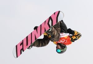 Nicolas Huber of Swirzerland competes during qualification in the men's slopestyle at Bokwang Snow Park.