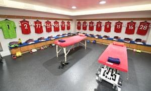 The away changing room at Stamford Bridge
