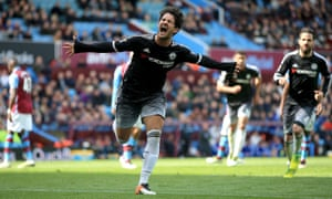 A rare moment of success for Alexandre Pato during his time at Chelsea – a goal against Aston Villa.