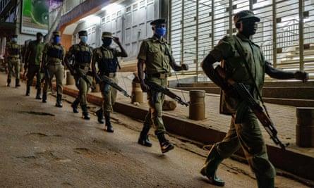 Police and Local Defence Units patrol Kamapala