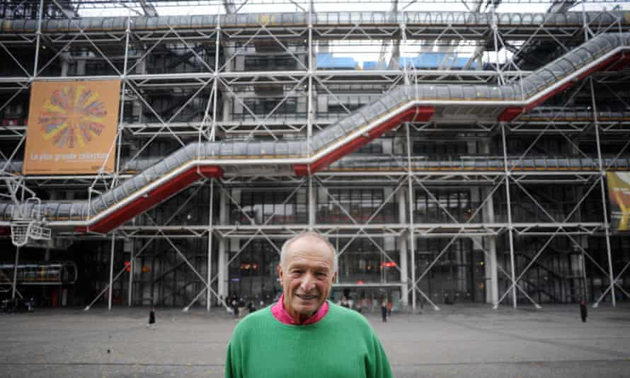 Rogers at the Pompidou Centre.
