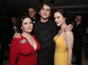 Rachel Brosnahan, Timothee Chalamet and Alex Borstein at the Amazon Golden Globes After Party