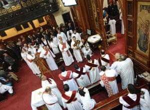 Egyptian Christmas eve service at St Mark's Coptic Orthodox Church in Kensington.