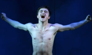 Daniel Radcliffe as Alan Strang in Peter Shaffer's Equus, written in 1973 and revived in 2007.