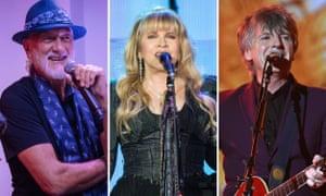 Mick Fleetwood, Stevie Nicks and Neil Finn.