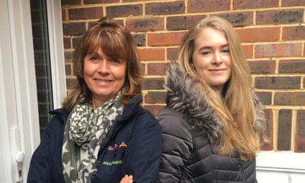 Charlotte Smith with her mother Caroline Dabney-Rourke.