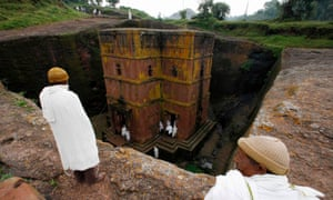 One of the 11 rock-hewn churches in Lalibela. Ethiopia is planning a second space observatory here.
