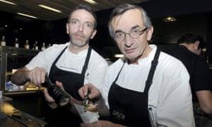 Sébastien Bras, left, and his father Michel at Le Capucin