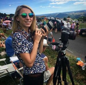 Alicia Canter at the Tour de France