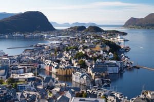Ålesund was destroyed in a 1904 fire and rebuilt in art nouveau style.