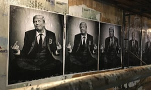 'Republicans are the new punk' ... posters of Donald Trump by the rightwing street artist Sabo.