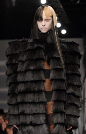 Wicked wicker … Gareth Pugh's show autumn/winter 2007 collection referenced The Wicker Man
