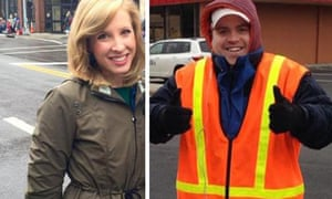 Reporter Alison Parker, left, and cameraman Adam Ward.