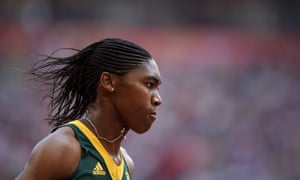 South Africa's Caster Semenya competes in a heat of the women's 800m in 2015.