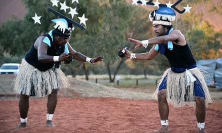 Dancers from Thursday Island in the Torres Strait at the convention's opening ceremony on 23 May.