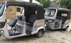 The motorised bikes used to bring support to people affected by Boko Haram violence.