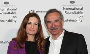 Carlo Capasa with environmental campaigner Livia Giuggioli