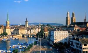 Zurich is rated as the most expensive city in the world.