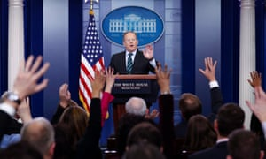 White House press secretary Sean Spicer… and a media cohort that is at a loss on how to deal with the new administration.