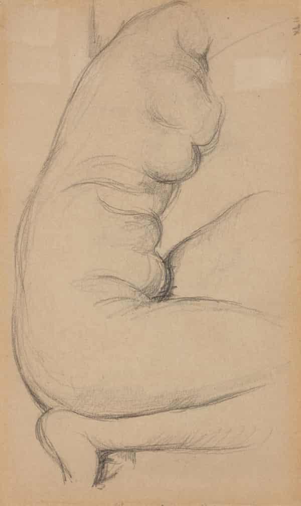 Paul Cézanne's After the Antiquity: Crouching Venus (c1894-7