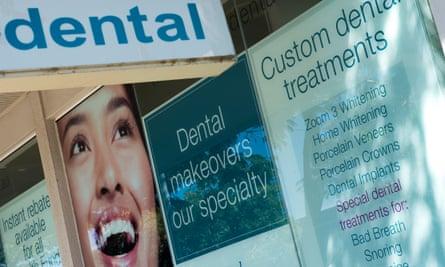 Stock image of dental advertising