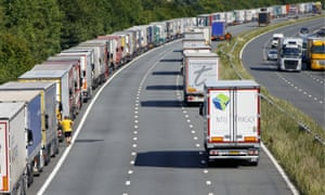 Delays on the French side cause huge tailbacks in Kent in 2015; such scenes could become routine, Eurotunnel warns.