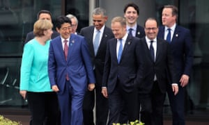 World leaders at the G7 summit in Japan in May