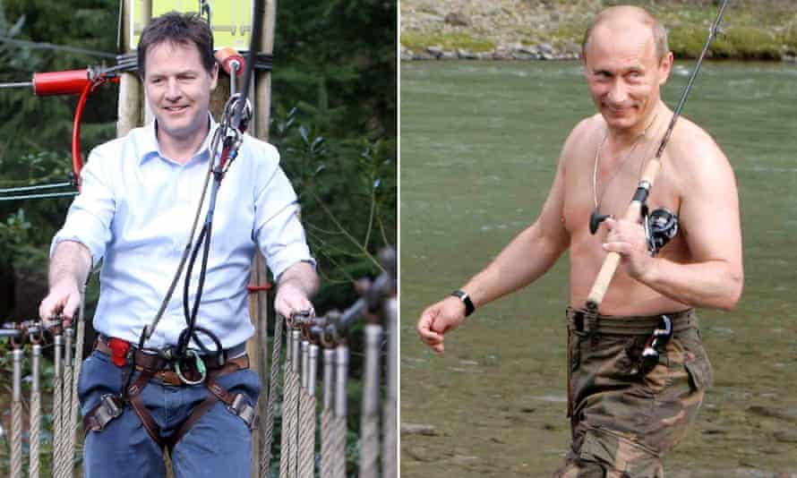 Nick Clegg and Vladimir Putin.