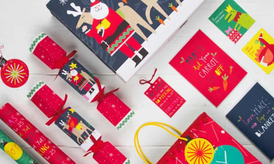 Marks & Spencer's glitter free Christmas cards and wrap range.